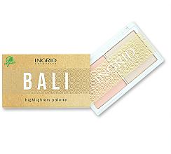 Düfte, Parfümerie und Kosmetik Highlighter-Palette - Ingrid Cosmetics Bali Highlighters Palette