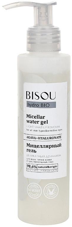 Mizellengel zur Make-up Entfernung für Gesicht und Augen mit Agave und Hyaluronsäure - Bisou Hydro Bio Micellar Water Gel