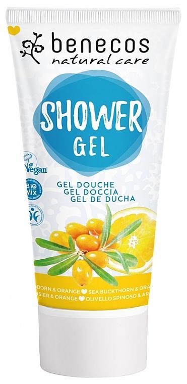 Duschgel mit Sanddorn und Orange - Benecos Natural Care Sea Buckthorn & Orange Shower Gel