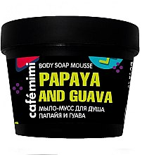 Düfte, Parfümerie und Kosmetik Badeseife mit Papaya und Guave - Cafe Mimi Body Soap Mousse Papaya And Guava