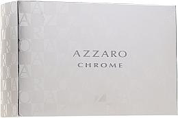 Düfte, Parfümerie und Kosmetik Azzaro Chrome - Duftset (Eau de Toilette 100ml + After Shave Balsam 30ml + Shampoo 50ml + Kosmetiktasche)