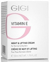 Düfte, Parfümerie und Kosmetik Liftingcreme für die Nacht mit Vitamin E - Gigi Vitamin E Night & Lifting Cream