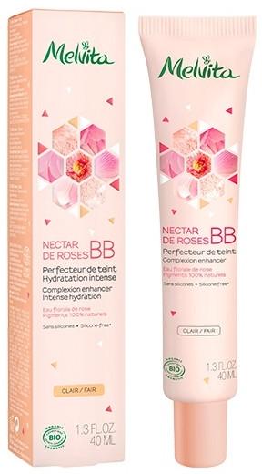 Feuchtigkeitsspendende Bio BB Creme mit Rosenblütenwasser - Melvita Nectar De Roses Organic BB Cream