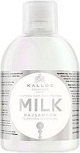 Düfte, Parfümerie und Kosmetik Pflegendes Shampoo mit Milchprotein-Essenz für trockenes und strapaziertes Haar - Kallos Cosmetics Milk Protein Shampoo