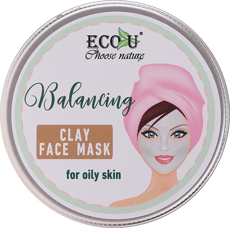 Ausgleichende Gesichtsmaske mit Tonerde für fettige Haut - Eco U Balancing Clay Face Mask For Oily Skin