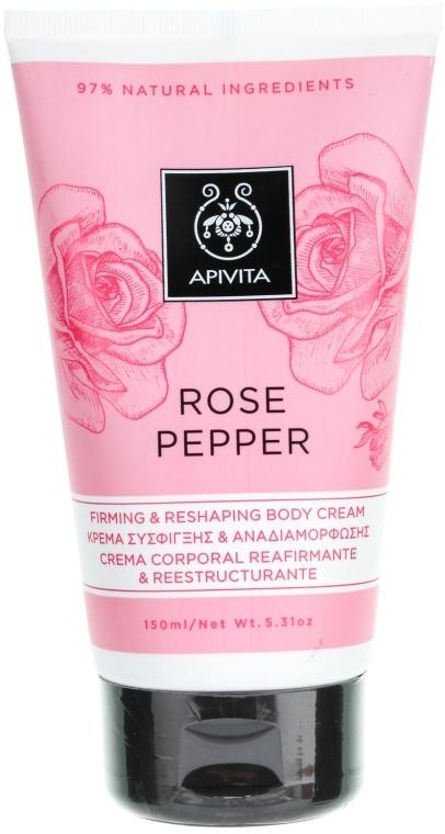 Straffende Anti-Cellulite Körpercreme mit rosa Pfeffer und Rose - Apivita Rose Pepper Firming & Reshaping Body Cream — Bild N1