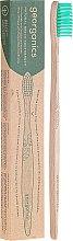 Düfte, Parfümerie und Kosmetik Bambuszahnbürste - Georganics Bamboo Medium Toothbrush Green