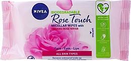 Düfte, Parfümerie und Kosmetik Feuchte Make-up Gesichtstücher mit Rosenwasser - Nivea Micellair Skin Breathe Makeup