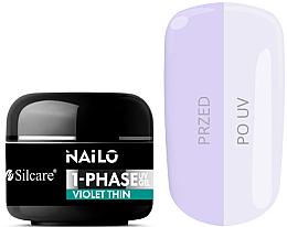 Düfte, Parfümerie und Kosmetik Einphasiges Baugel - Silcare Nailo 1-Phase Gel UV Violet Thin