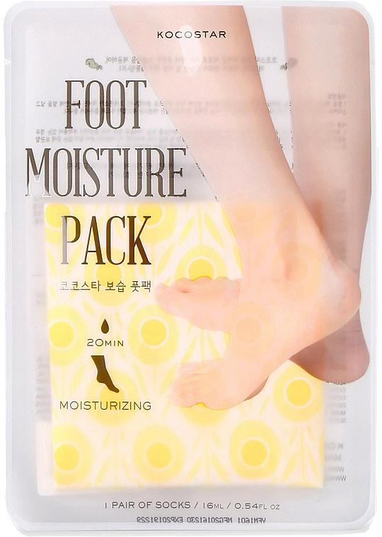 Feuchtigkeitsspendende Fußmaske in Socken gelb - Kocostar Foot Moisture Pack Yellow