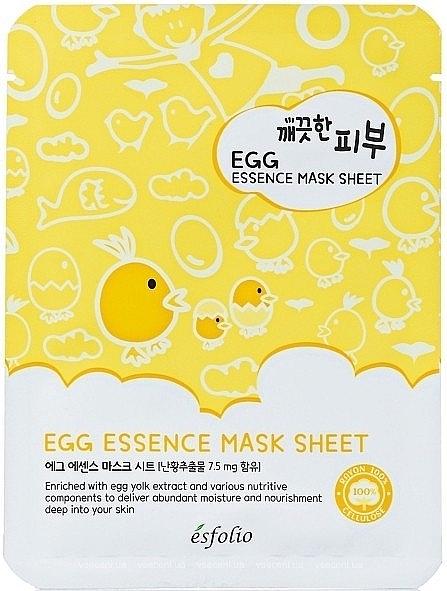 Tuchmaske für das Gesicht mit Eigelb-Extrakt - Esfolio Pure Skin Egg Essence Mask Sheet