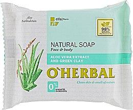 Düfte, Parfümerie und Kosmetik Naturseife mit Aloe vera-Extrakt und grüner Tonerde - O'Herbal Natural Soap