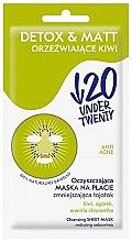 Mattierende Detox-Tuchmaske für das Gesicht - Under Twenty Anti! Acne Detox & Matt Face Mask — Bild N2