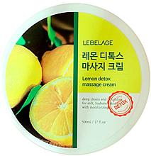 Düfte, Parfümerie und Kosmetik Massagecreme mit Zitrone - Lebelage Lemon Detox Massage Cream