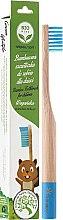 Düfte, Parfümerie und Kosmetik Bambuszahnbürste für Kinder weich blau - Biomika Natural Bamboo Toothbrush
