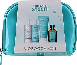 Düfte, Parfümerie und Kosmetik Haarpflegeset - Moroccanoil Smooth & Sleek Travel Kit (Shampoo 70ml + Conditioner 70ml + Haarmaske 75ml + Haaröl 25ml + Kosmetiktasche)