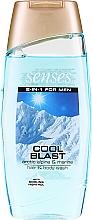 Düfte, Parfümerie und Kosmetik 2in1Shampoo & Duschgel für Männer - Avon Senses For Men Cool Blast Hair & Body Wash