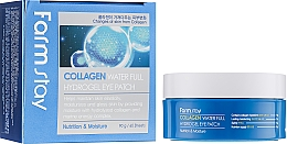 Düfte, Parfümerie und Kosmetik Nährende und feuchtigkeitsspendende Hydrogel-Augenpatches mit Kollagen für mehr Hautelastizität - FarmStay Water Full Hydrogel Eye Patch