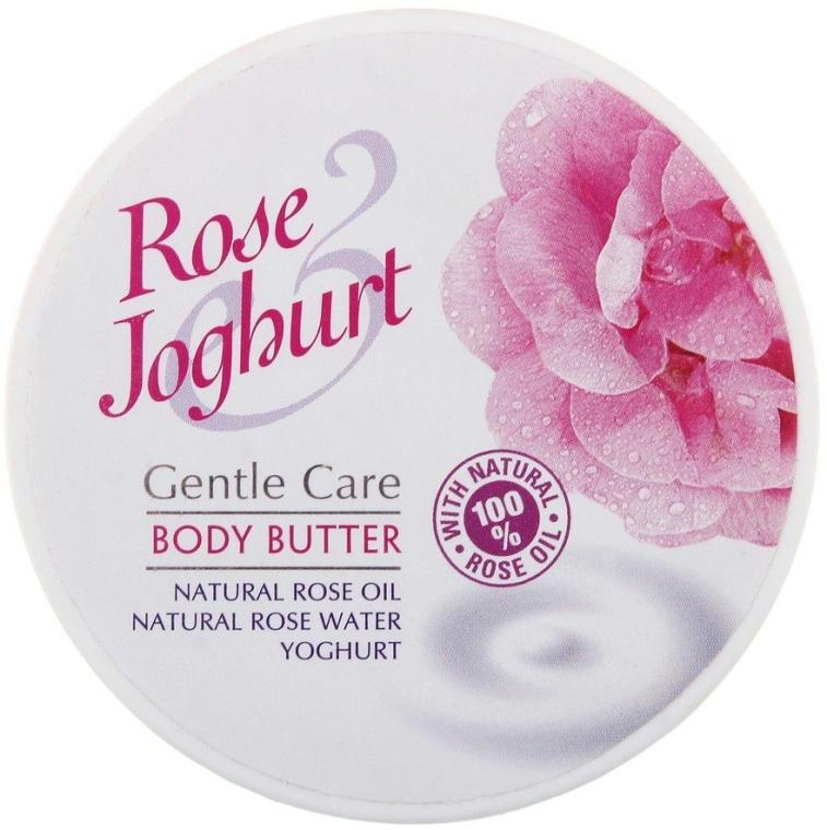 Körperbutter mit natürlichem Rosenöl, Rosenwasser und Yoghurt - Bulgarian Rose Body Butter Rose Joghurt — Bild N1