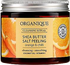 Düfte, Parfümerie und Kosmetik Salzpeeling für den Körper mit Sheabutter und Orangen- und Chiliduft - Organique Shea Butter Salt Peeling Orange & Chilli