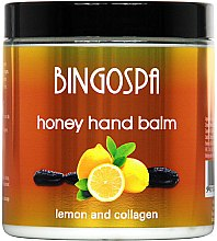 Düfte, Parfümerie und Kosmetik Pflegender Handbalsam mit Honig, Zitrone und Kollagen - BingoSpa Honey Balm For Hands With Lemon And Collagen