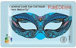 Düfte, Parfümerie und Kosmetik Erfrischende, feuchtigkeitsspendende nährende und glättende Hydrogel-Maske für die Augenpartie mit Niacinamid, Adenosin, Vitamin E und Lavendelextrakt - Purederm Carnival Look Eye Gel Mask Pure Butterfly