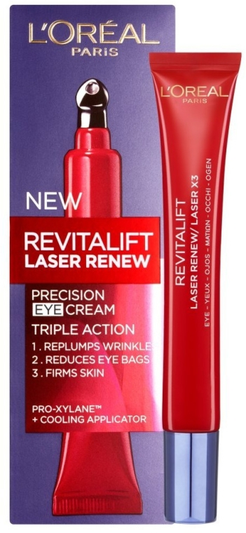 Tiefregenerierende Augencreme - L'Oreal Paris Revitalift Laser X3 Eye Cream — Bild N1