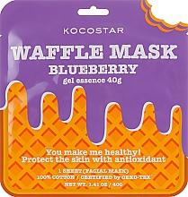 Düfte, Parfümerie und Kosmetik Feuchtigkeitsspendende Waffel-Tuchmaske für das Gesicht mit Blaubeere - Kocostar Blueberry Waffle Mask