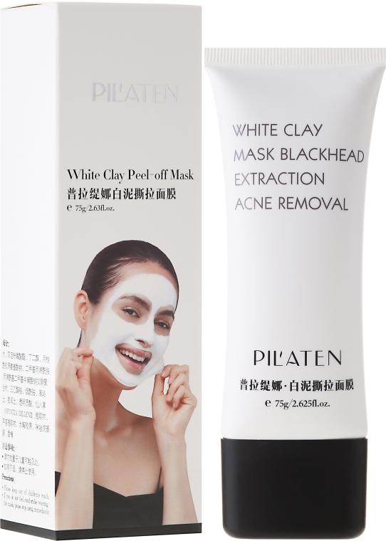 Gesichtsmaske gegen Akne und Mitesser mit weißem Ton - Pil'Aten White Clay Mask Blackhead Extraction Acne Removal