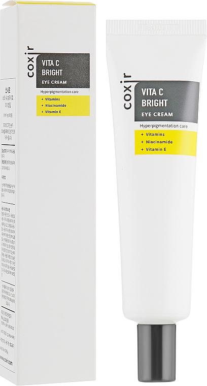 Aufhellende Creme für die Augenpartie gegen Hyperpigmentierung mit Vitaminen, Niacinamid und Vitamin E - Coxir Vita C Bright Eye Cream