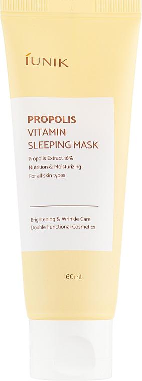 Regenerierende Nachtmaske mit Vitaminen und Propolis für das Gesicht - iUNIK Propolis Vitamin Sleeping Mask