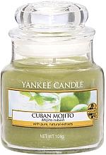 """Düfte, Parfümerie und Kosmetik Yankee Candle Cuban Mojito - Duftkerze im Glas mit natürlichen Extrakten """"Cuban Mojito"""""""