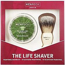 Düfte, Parfümerie und Kosmetik Rasierset - Men Rock The Life Shaver Sicilian Lime Kit (Rasierbürste 1St. + Rasiercreme 100ml)