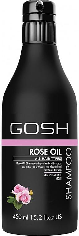 Beruhigendes Shampoo mit Rosenöl und Panthenol - Gosh Rose Oil Shampoo — Bild N3