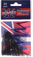 Düfte, Parfümerie und Kosmetik Haarklammern 50 mm schwarz 24 St. - Ronney Black Hair Bobby Pins