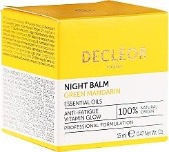 Düfte, Parfümerie und Kosmetik Nachtbalsam mit Gloweffekt gegen müde Haut - Decleor Green Mandarin Glow Night Balm