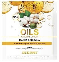 Düfte, Parfümerie und Kosmetik Pflegende Gesichtsmaske mit Baumwolle 35+ - BelKosmex OILS Natural Origin