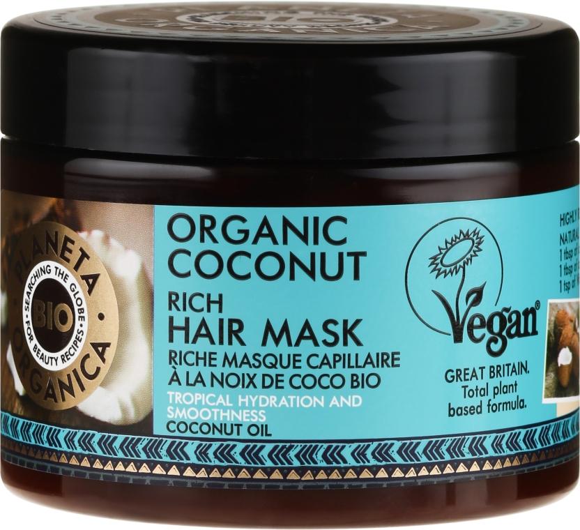 Feuchtigkeitsspendende Haarmaske mit Bio Kokosöl - Planeta Organica Organic Coconut Rich Hair Mask