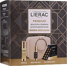 Düfte, Parfümerie und Kosmetik Gesichtspflegeset - Lierac Premium (Gesichtskapseln 30 St.+Gesichtsserum 30ml+Augencreme 15ml+Pouch)