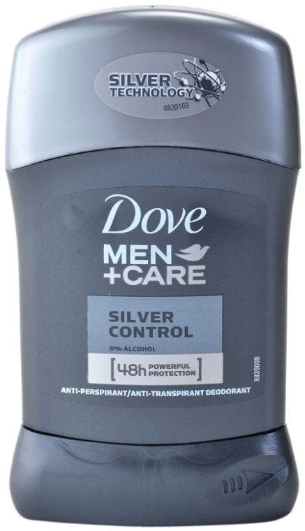 Deostick Antitranspirant - Dove Men+ Care Silver Control Antyperspirant Stick — Bild N1