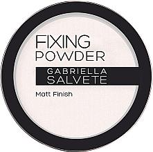 Düfte, Parfümerie und Kosmetik Transparender mattierender Fixierpuder - Gabriella Salvete Fixing Transparent Powder