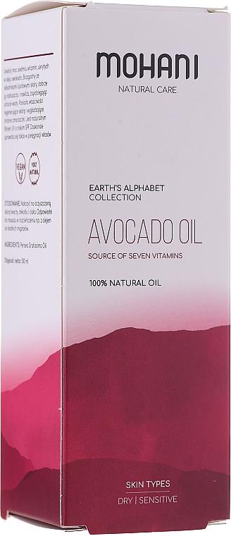 Bio Avocadoöl mit sieben Vitaminen für Haar, Wimpern und Nägel - Mohani Avocado Oil