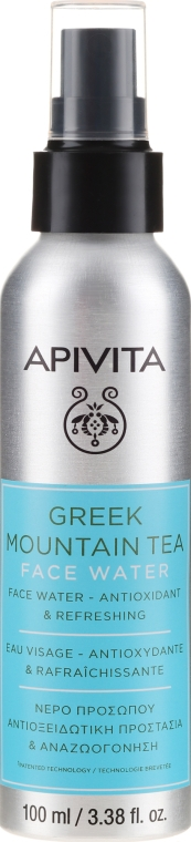 Erfrischendes Gesichtswasser mit griechischem Gebirgstee - Apivita Greek Mountain Tea Face Water