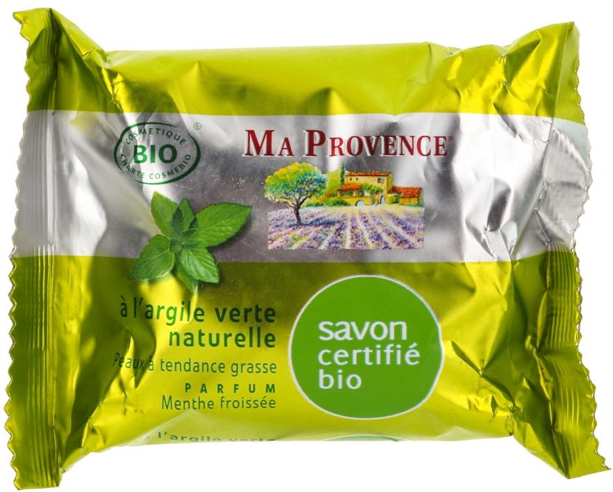 Naturseife mit grünem Ton und Minzduft - Ma Provence Organic Soap