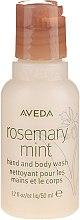 Düfte, Parfümerie und Kosmetik Flüssigseife für Hand und Körper mit Minze und Rosmarin - Aveda Rosemary Mint Hand And Body Wash (travel size)