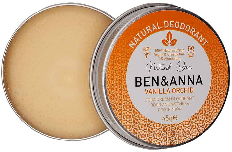 Natürliche Deo-Creme mit Vanille und Orchidee - Ben & Anna Vanilla Orchid Soda Cream Deodorant