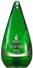 """Düfte, Parfümerie und Kosmetik Gel """"All In One"""" mit 95% Aloe vera für Gesicht, Körper und Haare - Miracle Island Aloevera 95% All In One Gel"""