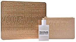 Düfte, Parfümerie und Kosmetik Zadig & Voltaire This Is Her - Duftset (Eau de Parfum 50ml + Kosmetiktasche gold)