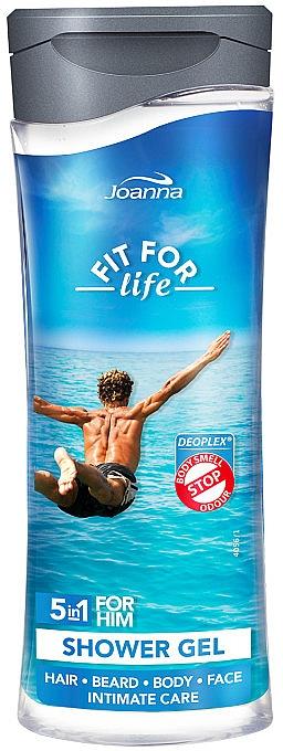 5in1 Duschgel für Männer - Joanna Fit For Life 5in1 Shower Gel For All Body Odour Stoper For Men