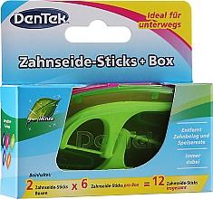 Düfte, Parfümerie und Kosmetik Zahnseide-Sticks + Box grün - Dentek Moulthwash Blast